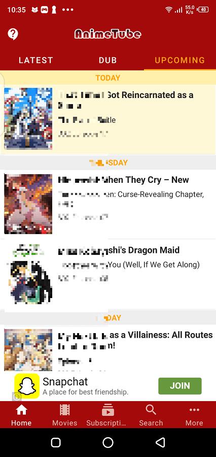 Screenshot of Anime Fanz Tube App