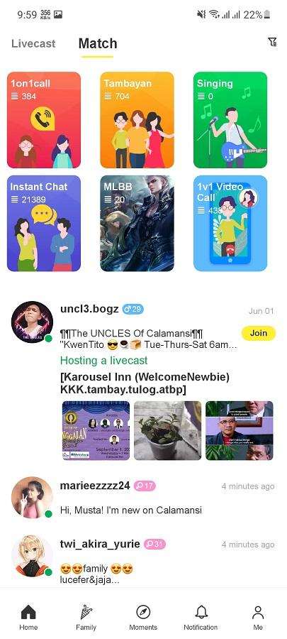 Screenshot of Calamansi Android