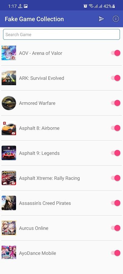 Screenshot of Fake Game Collection Download