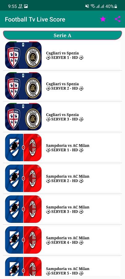 Screenshot of Football Live Score TV Download