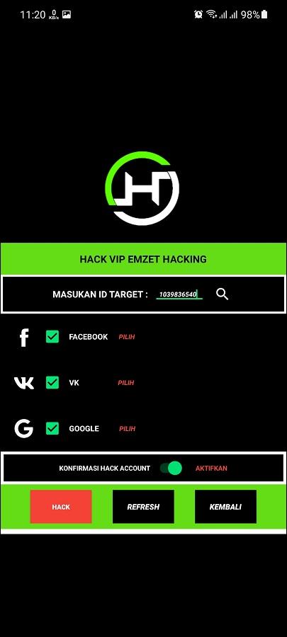 Screenshot of Hack VIP Emzeet