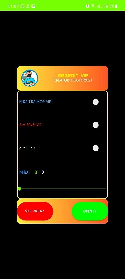 Screenshot of Injector FF Max V2 Android
