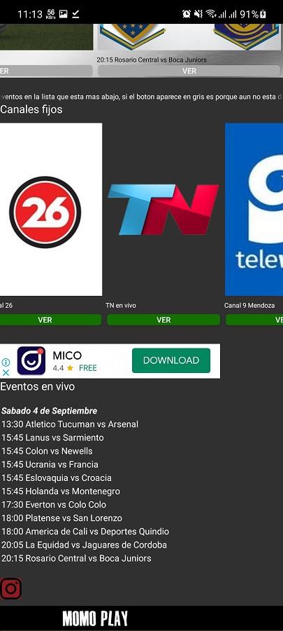 Screenshot of Momo Play Android