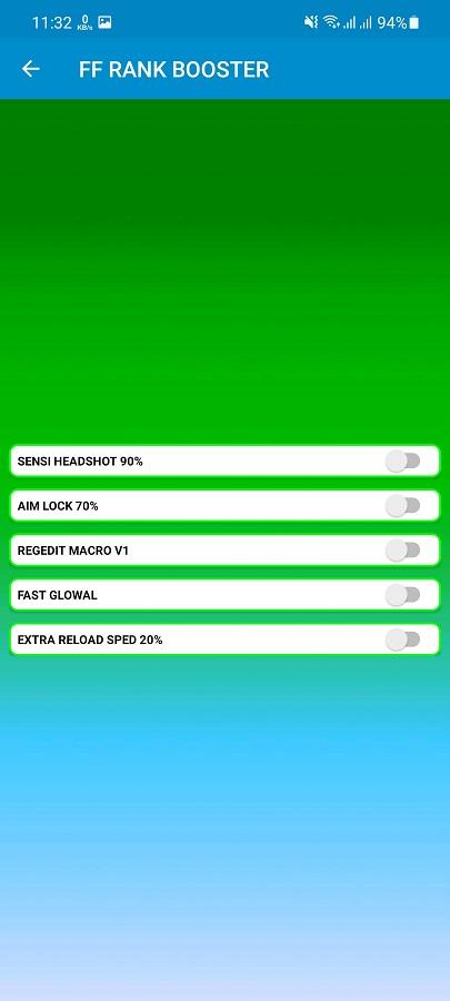 Screenshot of Rank Booster FF App