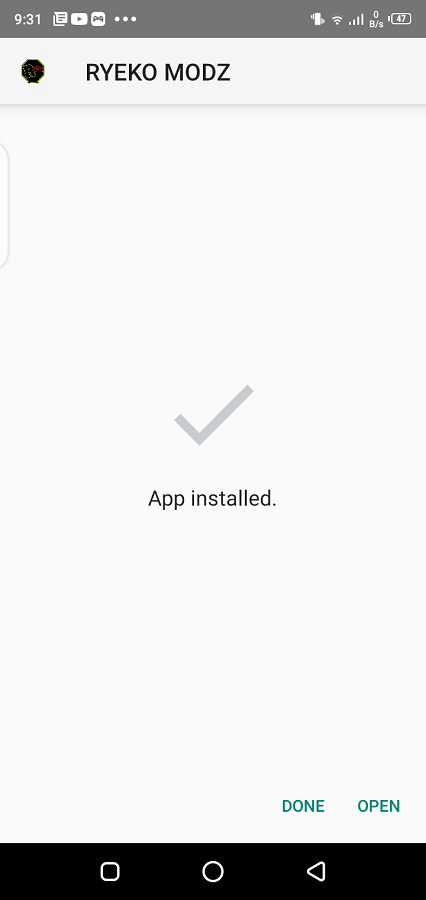 Screenshot of Ryeko Modz Android
