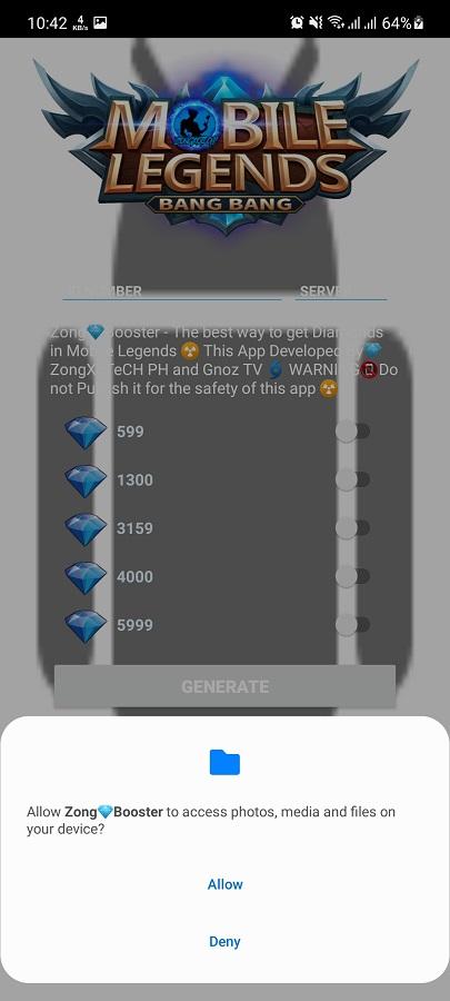 Screenshot of Zong Booster ML App
