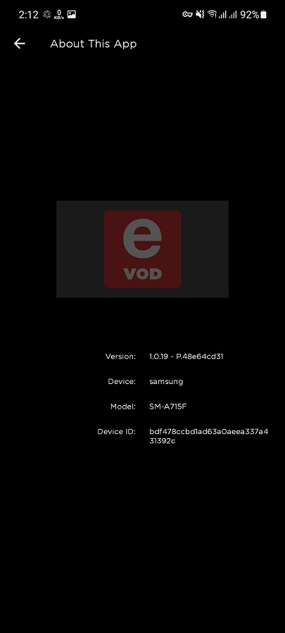 Screenshot of eVOD App Download For Android