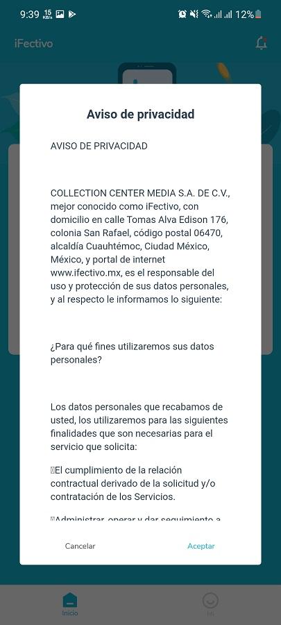 Screenshot of iFectivo Apk Download