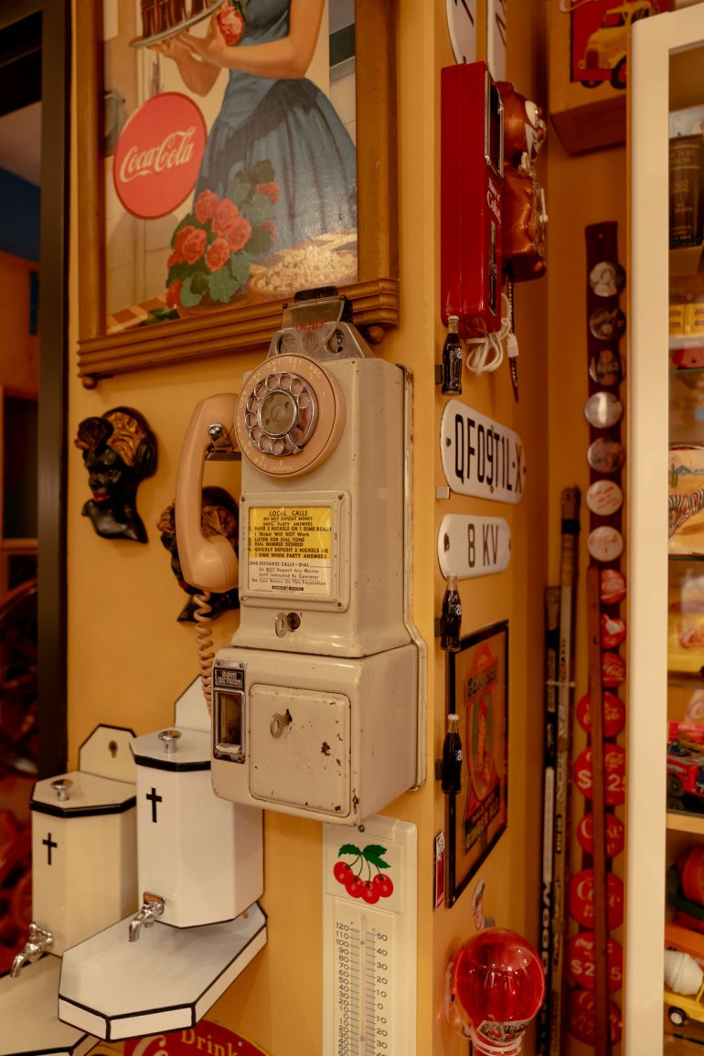 Antique pay phone from the Armando Terra collection