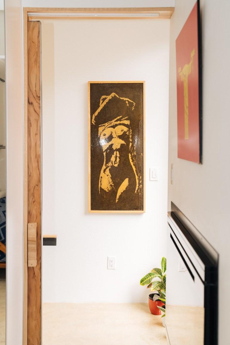 Carl Cassel silk screen painting
