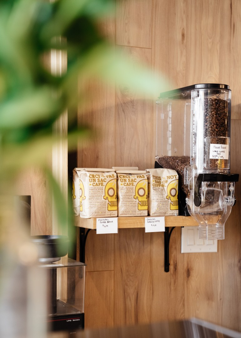 organic coffee beans and bags at theUnboxed Market