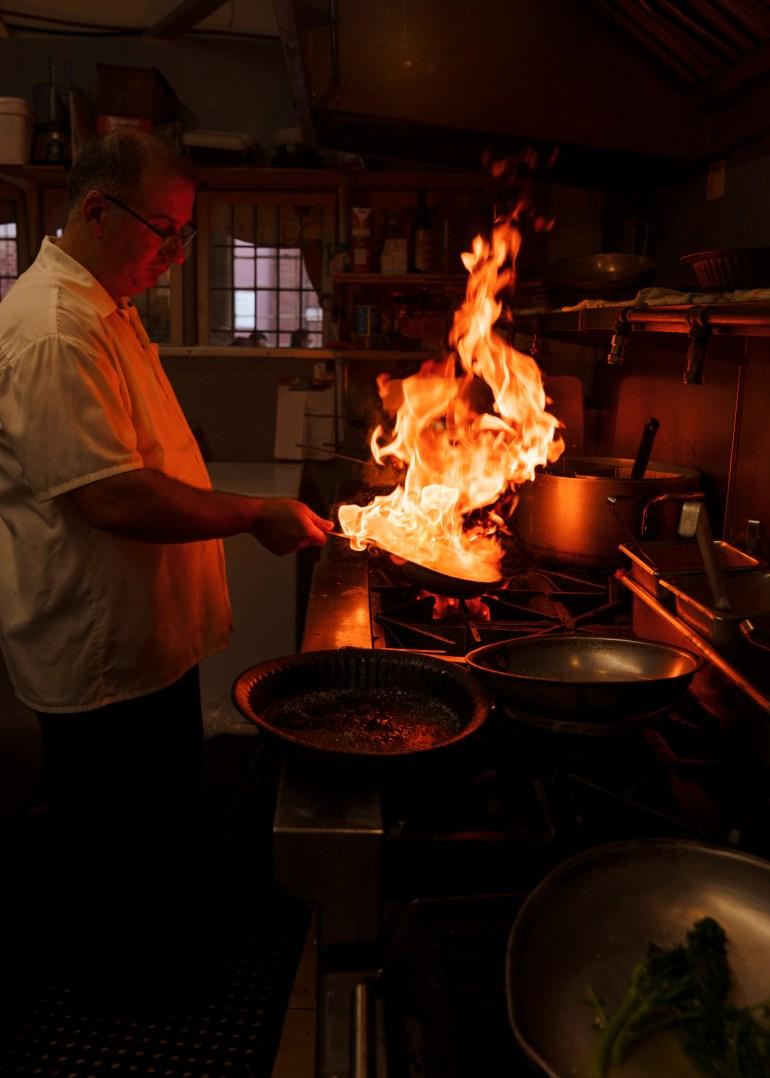 Caffino Ristorante in the kitchen