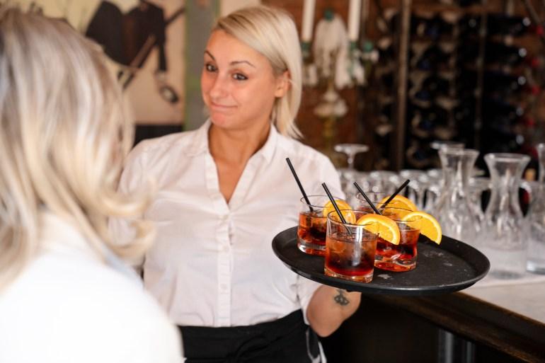 Waitress at Caffino Ristorante