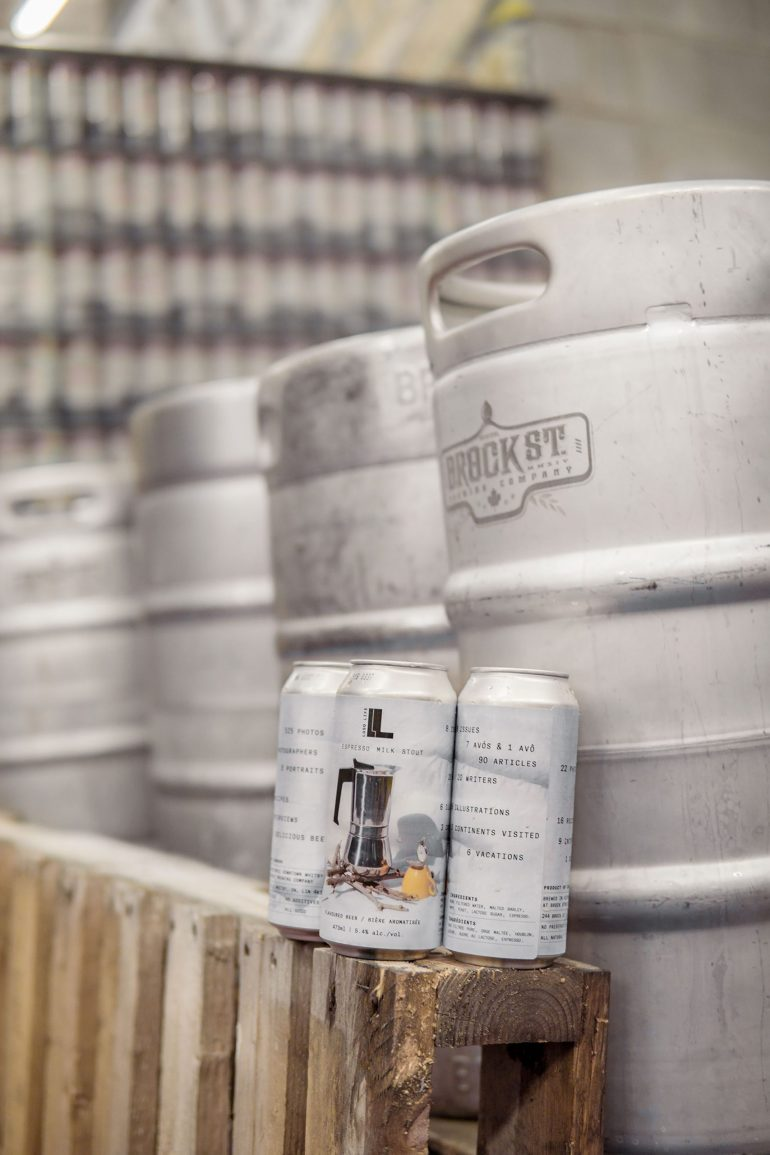 Brock Street Brewing Co kegs and cans