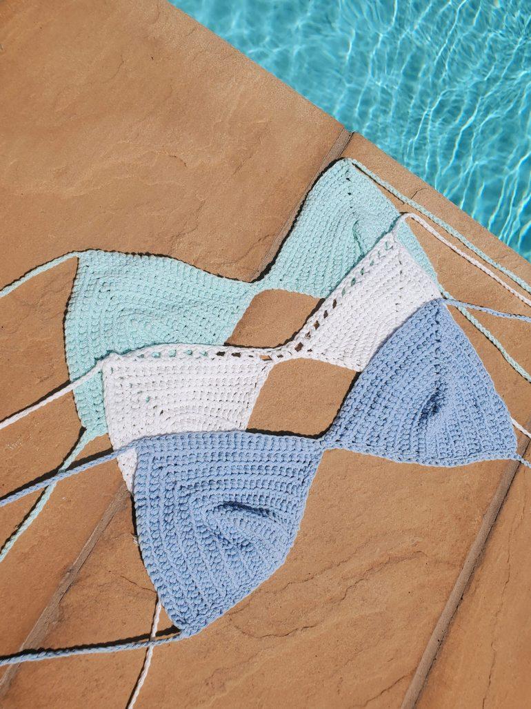 Knit bra