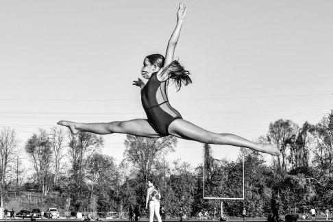 Luso–Life - Canada COVID Portrait - gymnastics in Toronto park by George Pimentel
