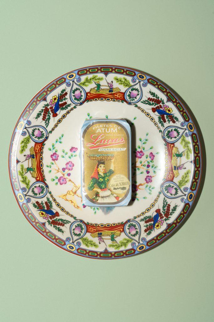 Lucas sardine can on a plate