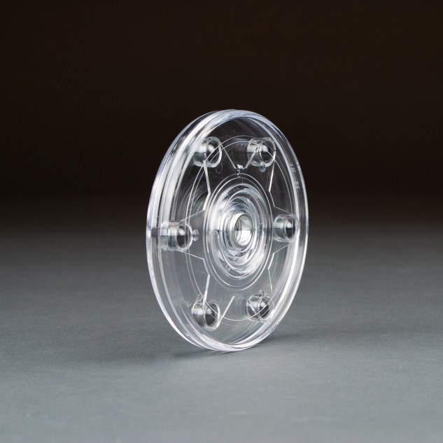 Small 4-1/4in clear turntable