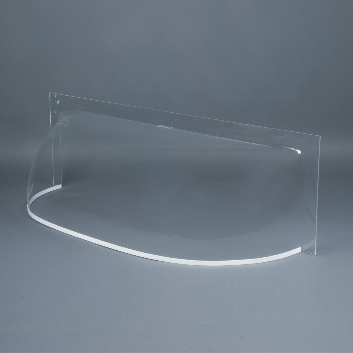 """Clear 3/16"""" flat front cast acrylic bubble window well cover"""
