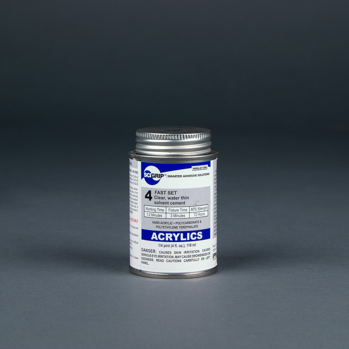 SCIGRIP Weld-On 4 Acrylic Solvent Cement 1/4 pint