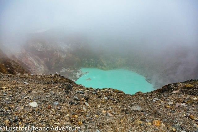 Santa Ana volcano crater