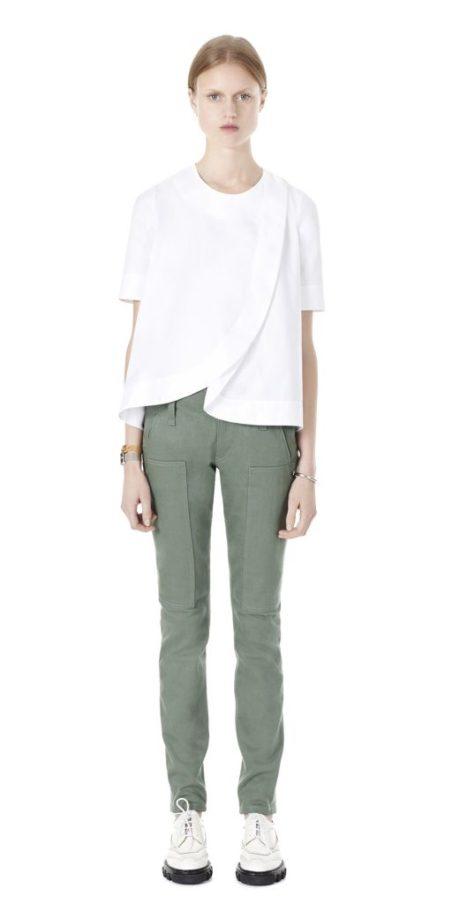 Balenciaga Wrap Short Sleeve Top