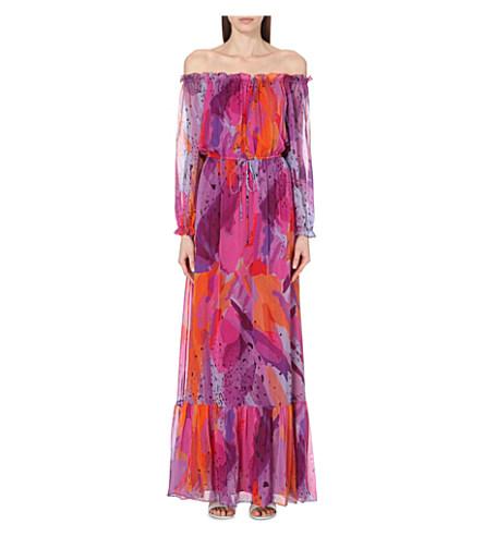 Diane Von Furstenberg Camila Off-the-shoulder Silk Maxi Dress