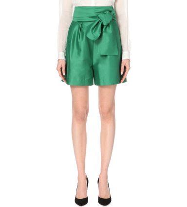 Isa Arfen High-rise Silk Shorts
