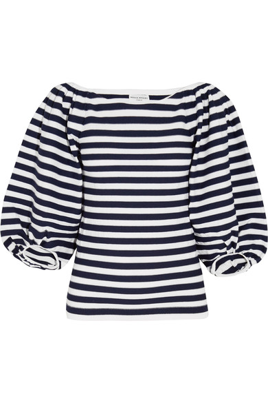 Sonia Rykiel Striped Cotton-blend Top