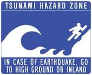 Danger Man flees tsunami.  As if