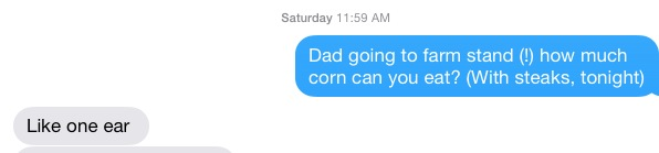 corn text from Child