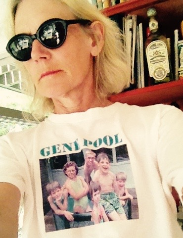 A-hah! 'Gene Pool' is an image on a shirt. Designed by my Dad, and given out to various and sundry about 20 years ago. Thanks, Dad.