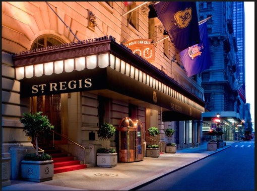 If you saw Whit Stillman's movie 'Metropolitan', you've seen the St. Regis Hotel