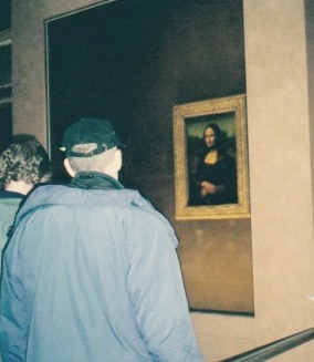 The back of The Dude as he admires the front of The Mona
