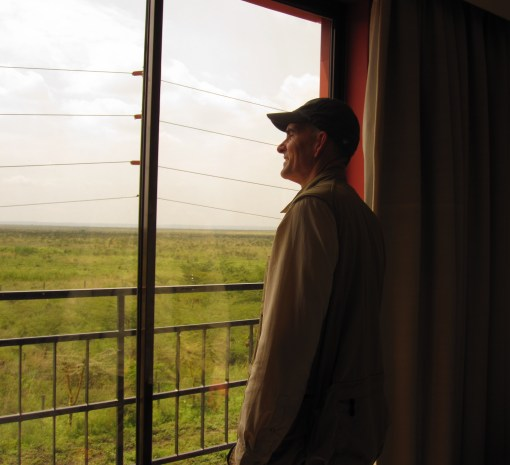 Aaaaaah. The anticipation. That's Nairobi National Park out the window