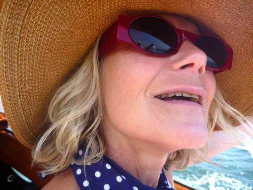Me on the yacht. Feeling the wind of many many boats in my hair