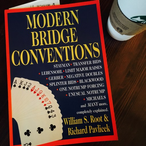 So many conventions, so little time. One of my dozens of bridge books, which I pick up with the best of intentions
