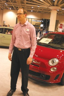 """Ryan Tucker was thriving on the show's challenging competitive environment. People have questions. """"Everyone wants to know if they can fit in it."""" Many are waiting for the 4-door 500L expected this summer."""