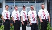 Brookdale Chevrolet skydivers, from left, Rich Pankratz, Bob Jones, Heidi Mannella, Jeremy Erickson and Nick Blattner.