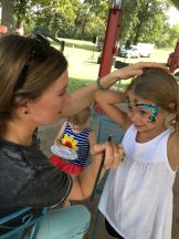 Face-painting from A Bright Tomorrow counseling.