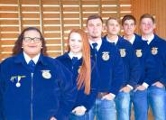 Parsons, front, is the 2017-2018 Luther FFA President.