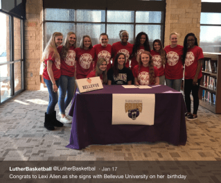 Lady Lion Lexi Allen signed to play with Bellevue last month.