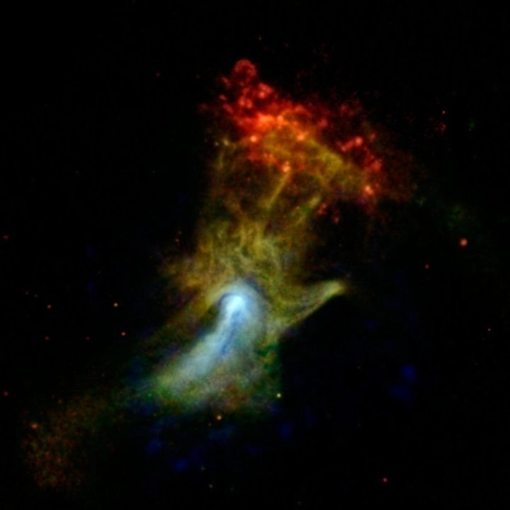 "The ""Hand of God"" (Credit: NASA/JPL-Caltech/McGill)"