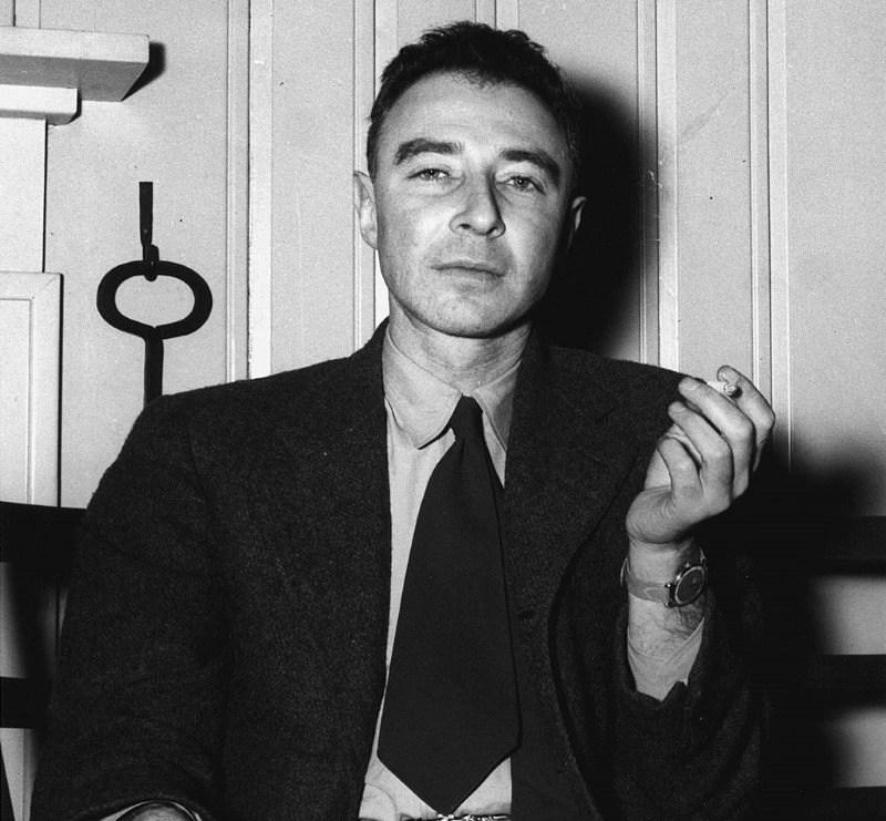 Robert Oppenheimer circa 1946 (by Ed Westcott via DOE Digital Archive/public domain)