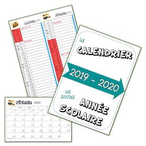 calendrier 2019 2020 lutin bazar