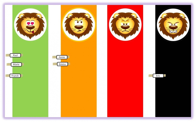 Populaire Le petit lion du comportement | Lutin Bazar VE46