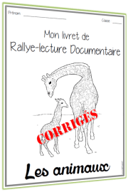 rallye lecture documentaire Animaux corrigés