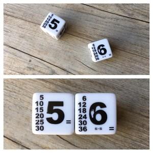 dés qui multiplient 6x6 6x9
