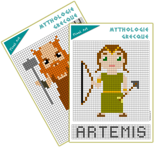 pixel art mythologie olympe