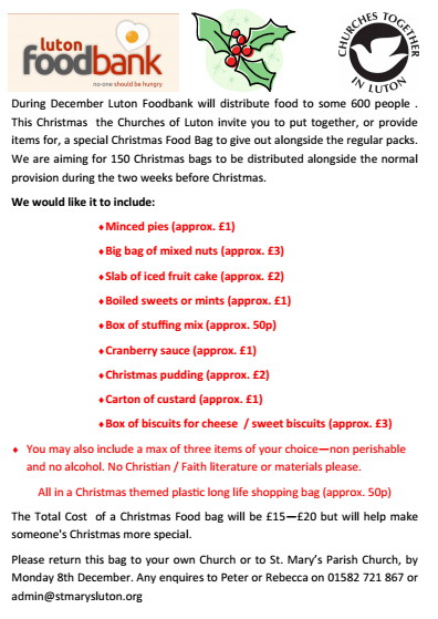 Food Bank Christmas Flyer 13
